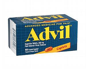 Advil Caplets 200 mg , Bottle of 100