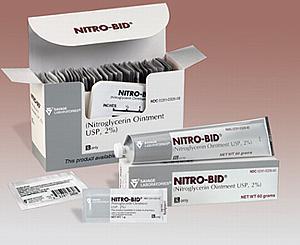 Nitro-Bid Nitroglycerin Ointment, USP, 2%, 1g Foil Packs, Box/48