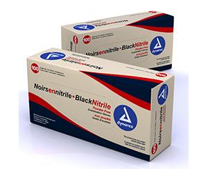 Black Nitrile Exam Gloves, Heavy-Duty, LG, Powder Free, 100/BX