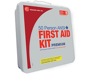50 Person ANSI/OSHA First Aid Kit, Weather Proof Metal Case PREMIUM
