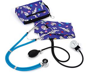 Aneroid Sphygmomanometer / Sprague-Rappaport Stethoscope Kit, Adult, Betty Boop Colored Hearts, Print