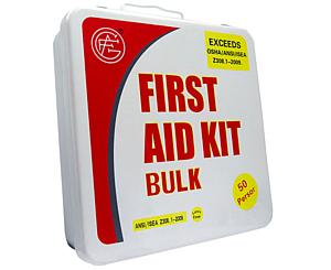 50 Person ANSI/OSHA First Aid Kit, Metal Case