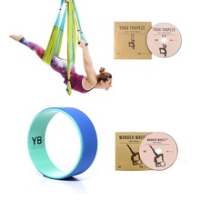 Blue Yoga Trapeze and Blue Wonder Wheel Bundle