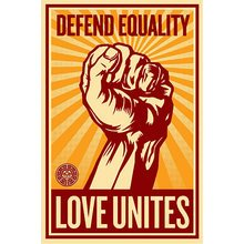 "Obey Giant ""Love Unites"" Signed Large Format Screen Print"