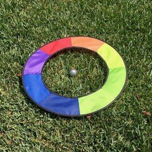 Rainbow putting target