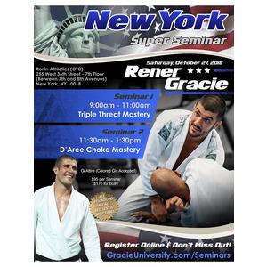 New York Super Seminar Bundle with Rener Gracie (10/27/18)